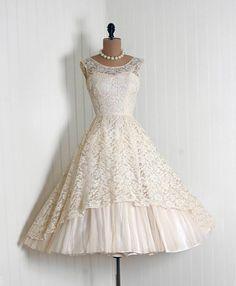 vintage chiffon and chantilly lace