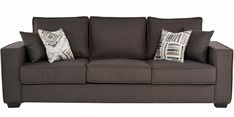 Buy Oritz Three Seater Sofa with Throw Pillows in Charcoal Grey Colour by CasaCraft by CasaCraft online from Pepperfry. ✓Exclusive Offers ✓Free Shipping ✓EMI Available