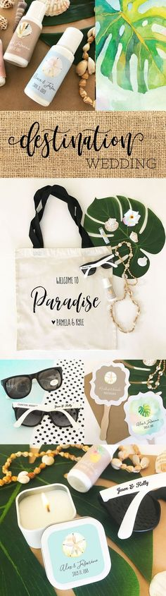 Destination Wedding Ideas | Destination Wedding Welcome Bags and Favors | Out of Town Guest Bags