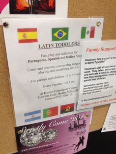 Local Spanish and Portuguese speaking community