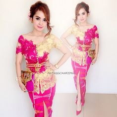 """Pink of the day,  Kebaya by @bintangkebaya"