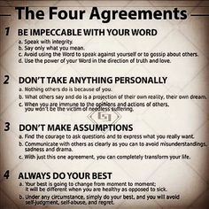 The Four Agreements #lifestyle #motivation #inspiration #success #daily #virtues #values #manners #behavior #gentleman #success #guidance