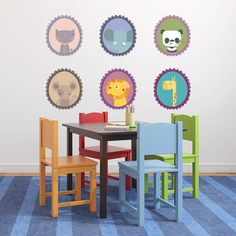 fabric animal picture frame wall stickers by spin collective   notonthehighstreet.com