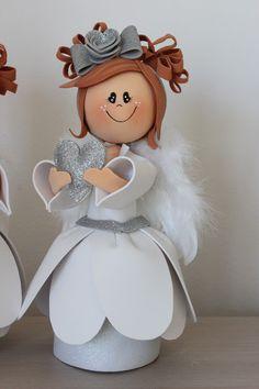 творіння Maichi Felt Crafts, Diy And Crafts, Angel Decor, Sewing For Kids, Holidays And Events, Clay, Dolls, Fabric, Christmas