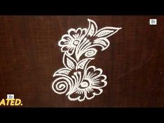 Kolam / rangoli Design without using Dots Rangoli Side Designs, Free Hand Rangoli Design, Rangoli Borders, Small Rangoli Design, Rangoli Patterns, Rangoli Ideas, Rangoli Designs Diwali, Rangoli Designs Images, Rangoli Designs With Dots