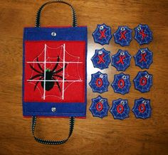 In The Hoop Tic Tac Tote Game Halo Spider Embroidery Machine Applique Design. $3.99, via Etsy.