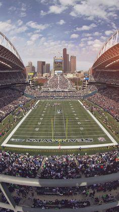 Seahawks Seattle Sports Stadium Football iPhone 8 Wallpapers