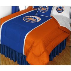 MLB New York City Mets Comforter Pillow Case Baseball Bed Linen