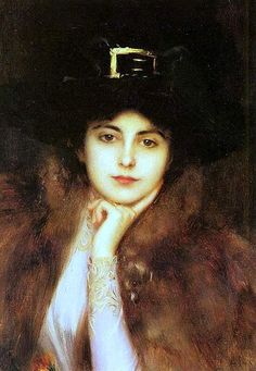 Elegant lady by Albert Lynch