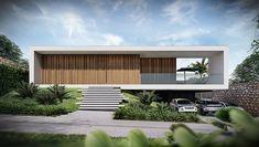 Lima Arquitetos | Conheça nossos projetos de casas modernas Modern House Facades, Modern Exterior House Designs, Modern Villa Design, Bungalow Exterior, Dream House Exterior, Modern Buildings, Minimalist Architecture, Modern Architecture House, Residential Architecture