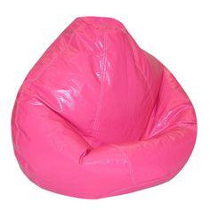 "Kids Large Wetlook Beanbag Chair - Magenta (Magenta) (108"" Circumference)"