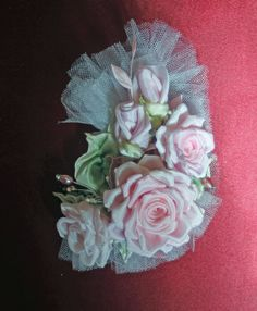 Ribbonwork Applique Bridal Hair Accessory by AddABloomBoutique, $46.50