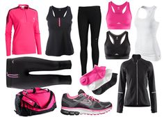 LOVE these gym clothes! pink/black...love all of it.