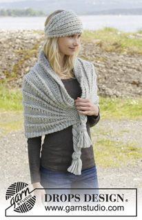 Cute shawl/scarf - pattern: http://www.garnstudio.com/lang/fi/visoppskrift.php?d_nr=156&d_id=30&lang=fi