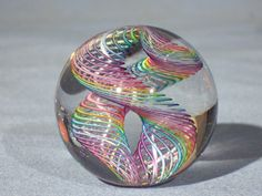 Marbles: Hand Made Art Glass James Alloway Dichroic Marble #1757  1.9 inch