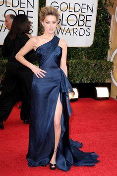 Fabulously Spotted: Amber Heard Wearing Atelier Versace - 2014 Golden Globe Awards  - http://www.becauseiamfabulous.com/2014/01/amber-heard-wearing-atelier-versace-2014-golden-globe-awards/