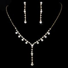 7 Elegant Crystal Drop Jewelry Sets for your Quinceanera court!