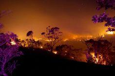 Incendie dans les blues mountain près de Sydney #fire
