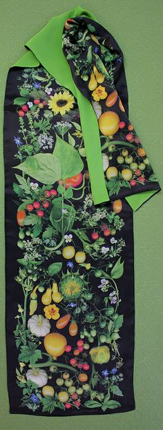 From my neighbor's garden. Scanner Photography By Ellen Hoverkamp — Lined Silk Organic Vegetable Scarf Photo Texture, Fabric Rug, Organic Vegetables, Dreamcatchers, Land Art, Texture Design, Order Prints, My Images, Fabric Design