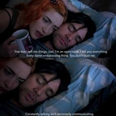 "Jim Carrey & Kate Winslet, ""Eternal Sunshine of the Spotless Mind"" (Michel Gondry, Best Movie Quotes, Film Quotes, Favorite Quotes, Clementine Eternal Sunshine, Cinema Quotes, Sunshine Quotes, Movie Dialogues, Movie Lines, Jim Carrey"