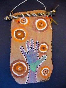 Aboriginal Art - stick and home made paper