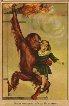Sim, the orang-oetang, save his little boss