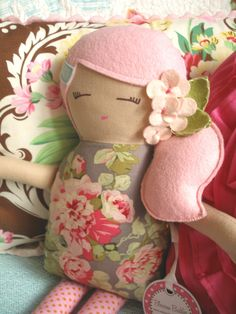 I love this doll, think mum could make this too.