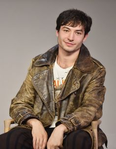 Actor Ezra Miller attends the Apple Store Soho presentation of Meet the Cast: 'Fantastic Beasts and Where to Find Them' in NYC.