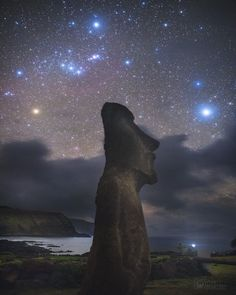 Orion above Easter Island - Why were the statues on Easter Island built? No one is sure. What is sure is that over 800 large stone statues exist there. The Easter Island statues stand on the average over twice as tall as a person and have over 200 times as much mass. Few specifics are known about the history or meaning of the unusual rock sculptures but many believe that they were created about 700 years ago in the images of local leaders of a lost civilization. Featured here one of the…