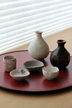 Japanese sake bottles and cups 岸野寛さんの酒器が入荷しましたの画像:うつわ京都やまほん