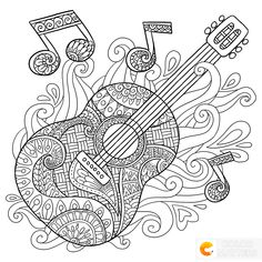 ideas music note doodles coloring pages Pumpkin Coloring Pages, Adult Coloring Book Pages, Coloring Book Art, Printable Adult Coloring Pages, Doodle Coloring, Colouring Pages, Coloring Sheets, Note Doodles, Free Adult Coloring