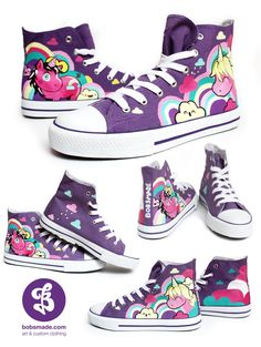 7daebd417c Unicorn Chuckz by  Bobsmade on deviantART Painted Converse