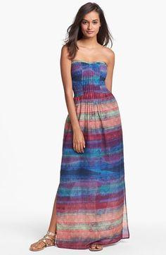 Presley Skye 'Voila' Print Pintucked Maxi Dress | Nordstrom