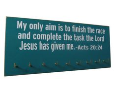 Inspirational bible verse on medals display by runningonthewall, $28.99