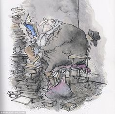 One of Searle's cartoons titled: 'Unwashed, With Only Slight Marginal Soiling'