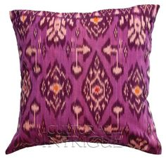 Violet Purple Ikat Pillow Cover (18x12 rectangle). Toss these babies in your reception lounge area and watch your guests drool! http://beforeyoudo.net/wedding-blog-post/pantone-color-of-the-year-radiant-orchid-weddings/
