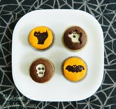 Kitchen Fun With My 3 Sons: Halloween Cookie Cutter Cupcakes..so easy!