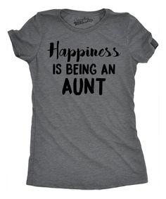 Dark Heather Gray 'Happiness is Being an Aunt' Fitted Tee