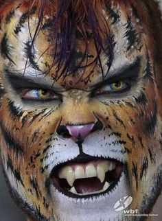 Awesome face art - by Kurt Drake self painted at 2009 World Body Painting Festival - see this and more in the WBPF Gallery