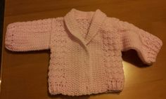 My first crotchet baby cardigan