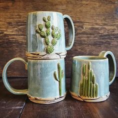 These mugs from @seedlingclayworks are such fantastic pieces. Make sure you don't miss the Joshua tree version on her feed  by myfavmakers