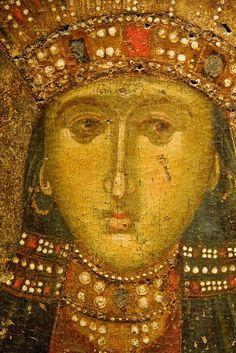 St Catherine, Byzantine and Christian museum - Athens Byzantine Icons, Byzantine Art, Ancient Greek City, Ancient Art, Saint Katherine, Religious Icons, Orthodox Icons, Medieval Art, Roman Empire