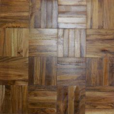 Solid hardwood parquet mosaic - each unfinished, parquet panel is made up of five finger squares in a chequerboard design, available in Rustic, Natural or Prime Oak and Mahogany Parquet Flooring, Wooden Flooring, Hardwood Floors, Checkerboard Floor, Mosaic Supplies, Parquetry, Wood Mosaic, Floor Finishes, Remodels