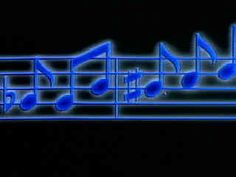Blue music notes