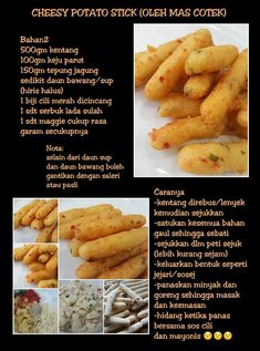 Cheesey potato stick Food N, Good Food, Food And Drink, Yummy Food, Cream Cheese Homemade, Easy Cooking, Cooking Recipes, Potato Sticks, Easy Vanilla Cake Recipe