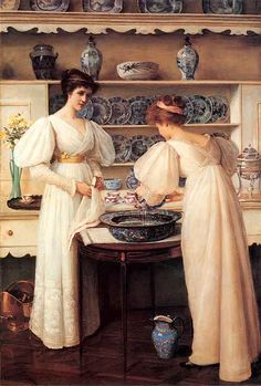 Louise Jopling (1843-19330  Blue & White