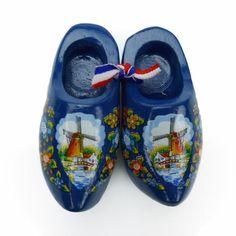 Dutch Wooden Clogs Deluxe Blue Windmill #ClogsShoesDutch