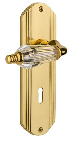 Parlour Double Dummy Door Lever with Deco Plate