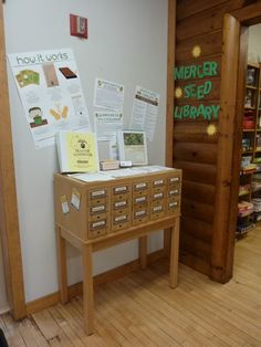 Mercer Public Library seed library.