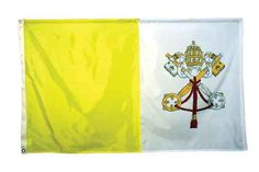 High Wind, US Made, Nylon Papal Flag 2x3